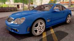 Mercedes-Benz SL65 AMG Blue for GTA San Andreas