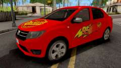 Dacia Logan 2 2016 Lightning Mcqueen v2 for GTA San Andreas