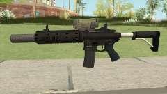 Carbine Rifle V2 Silenced, Tactical, Flashlight for GTA San Andreas