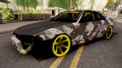 Nissan Skyline R33 Drift Camo v2 for GTA San Andreas