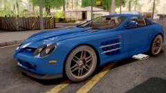 Mercedes-Benz SLR 722 Blue for GTA San Andreas