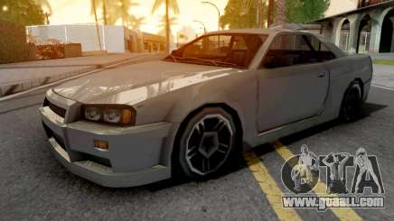 Nissan Skyline R34 Grey for GTA San Andreas