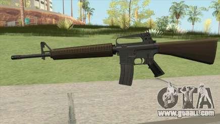 M16A2 Partial Desert Camo (Stock Mag) for GTA San Andreas