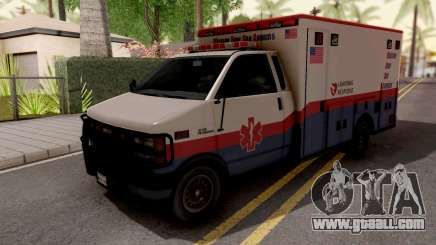 Brute Ambulance GTA 5 White for GTA San Andreas