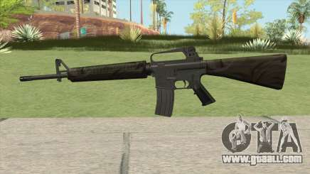 M16A2 Partial Jungle Camo (Stock Mag) for GTA San Andreas