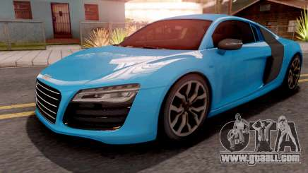 Audi R8 V10 Plus Blue for GTA San Andreas