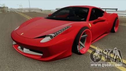 Ferrari 458 Italia HQ for GTA San Andreas