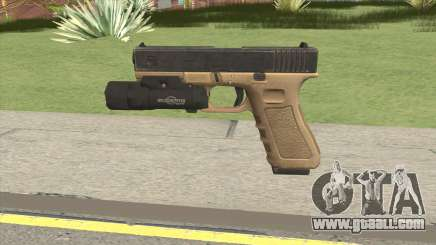 Glock 17 Tan With Flashlight for GTA San Andreas