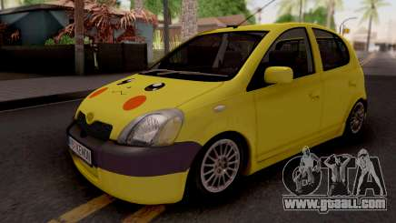 Toyota Yaris Pokemon for GTA San Andreas