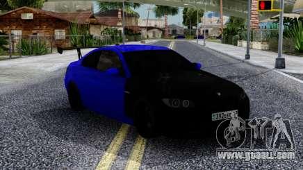 BMW M3 E92 Black & Blue for GTA San Andreas