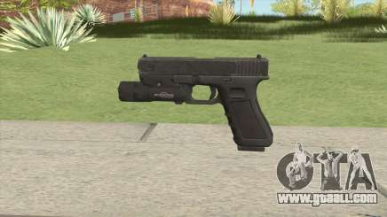Glock 17 Black With Flashlight for GTA San Andreas