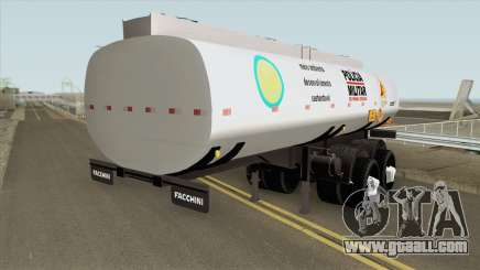 Tank Trailer V2 (Policia Militar) for GTA San Andreas