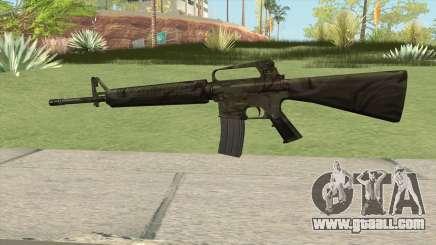 M16A2 Full Jungle Camo (Stock Mag) for GTA San Andreas