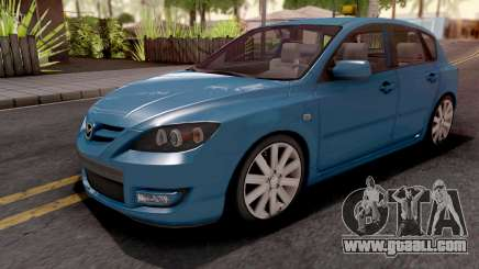 Mazda Speed 3 Blue for GTA San Andreas