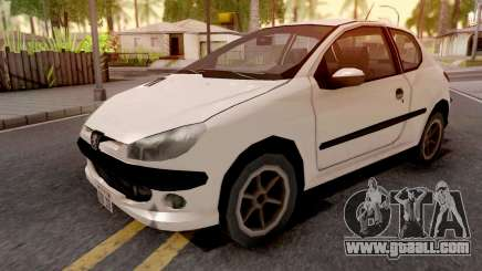 Peugeot 206 White for GTA San Andreas