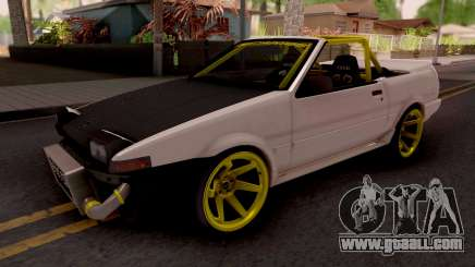 Toyota AE86 Cabrio Drift for GTA San Andreas