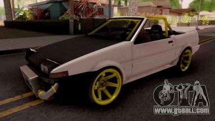 Toyota AE86 Cabrio Drift for GTA San Andreas