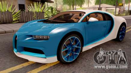 Bugatti Chiron Blue for GTA San Andreas