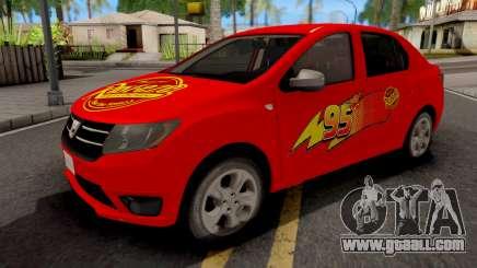 Dacia Logan 2 2016 Lightning Mcqueen v2 for GTA San Andreas