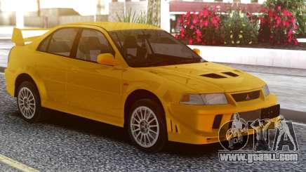 Mitsubishi Lancer Evolution VI Yellow for GTA San Andreas