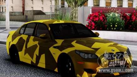 BMW M5 E60 Yellow Camo for GTA San Andreas