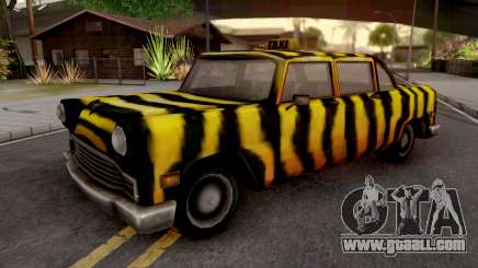 Zebra Cab from GTA VC for GTA San Andreas