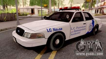 Ford Crown Victoria NOOSE Cruiser SA Style for GTA San Andreas
