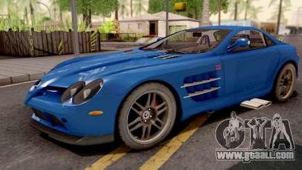 Mercedes-Benz SLR 722 Blue for GTA San Andreas