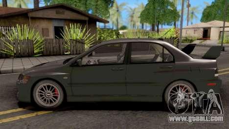 Mitsubishi Lancer EVO IX MR for GTA San Andreas