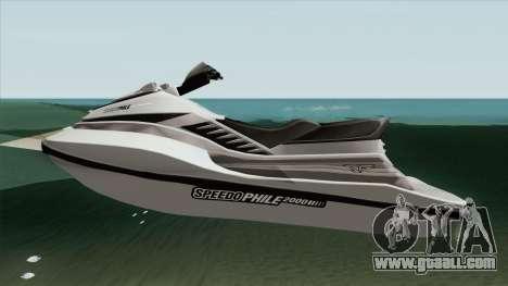 Speedophile Seashark Normal GTA V for GTA San Andreas
