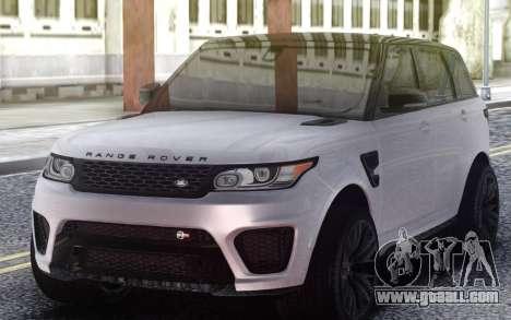 Range Rover Sport SVR for GTA San Andreas
