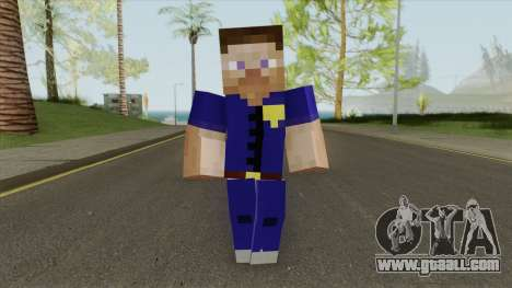 Police Minecraft Skin V1 for GTA San Andreas