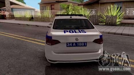 Volkswagen Polo TR Polis for GTA San Andreas
