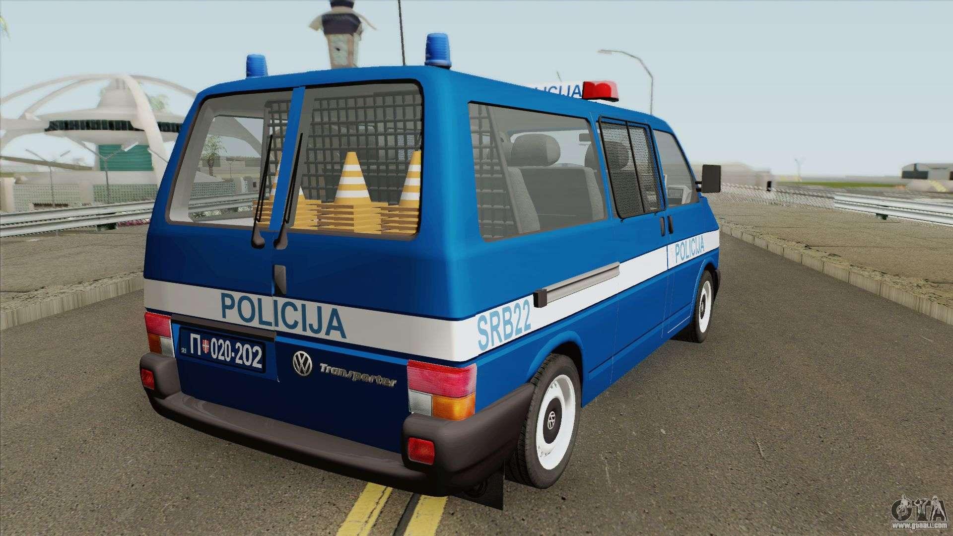 Volkswagen Transporter Mk4 Policija V1 1999 For GTA San