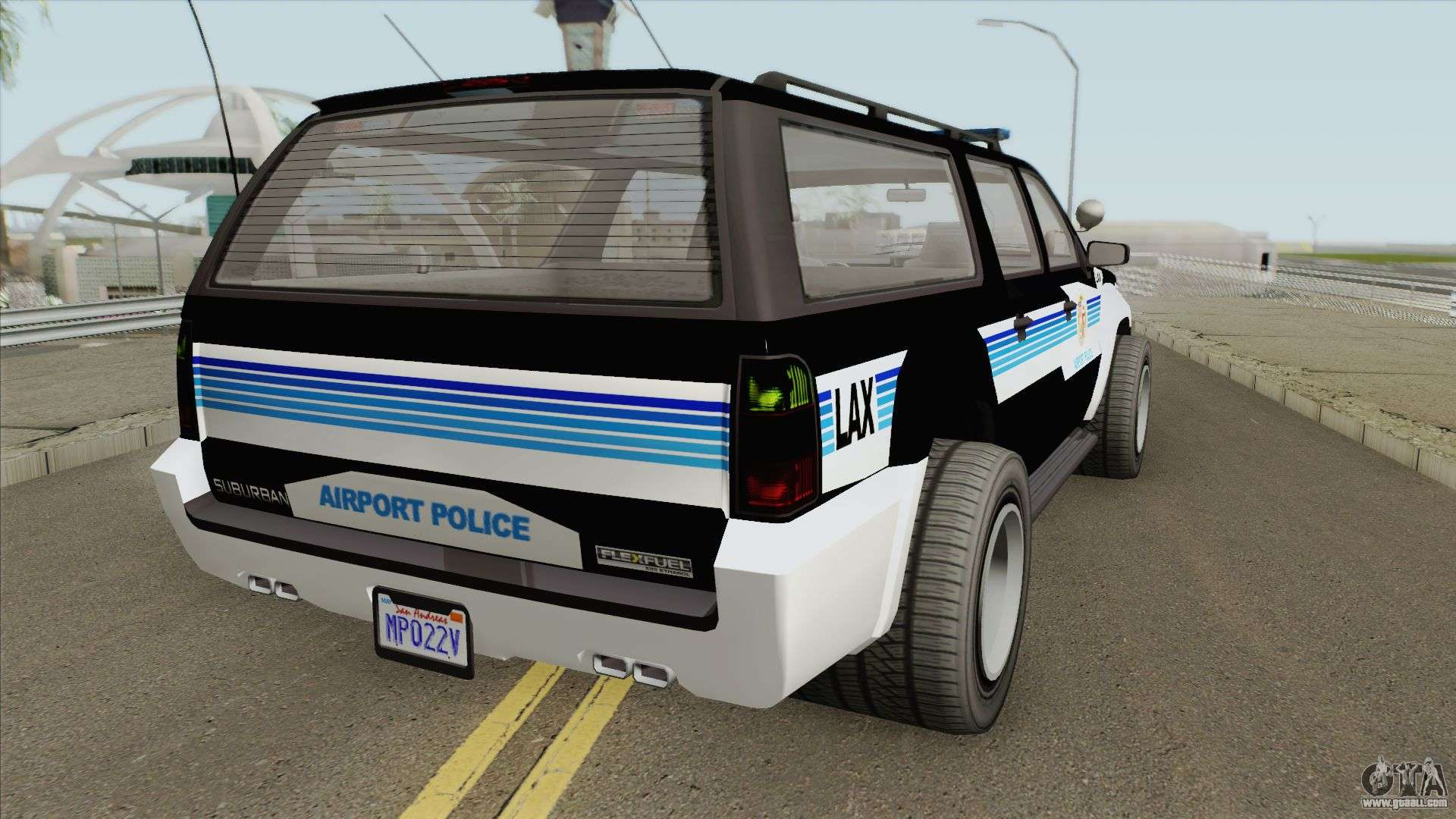 Chevrolet Suburban Lax Airport Police For Gta San Andreas
