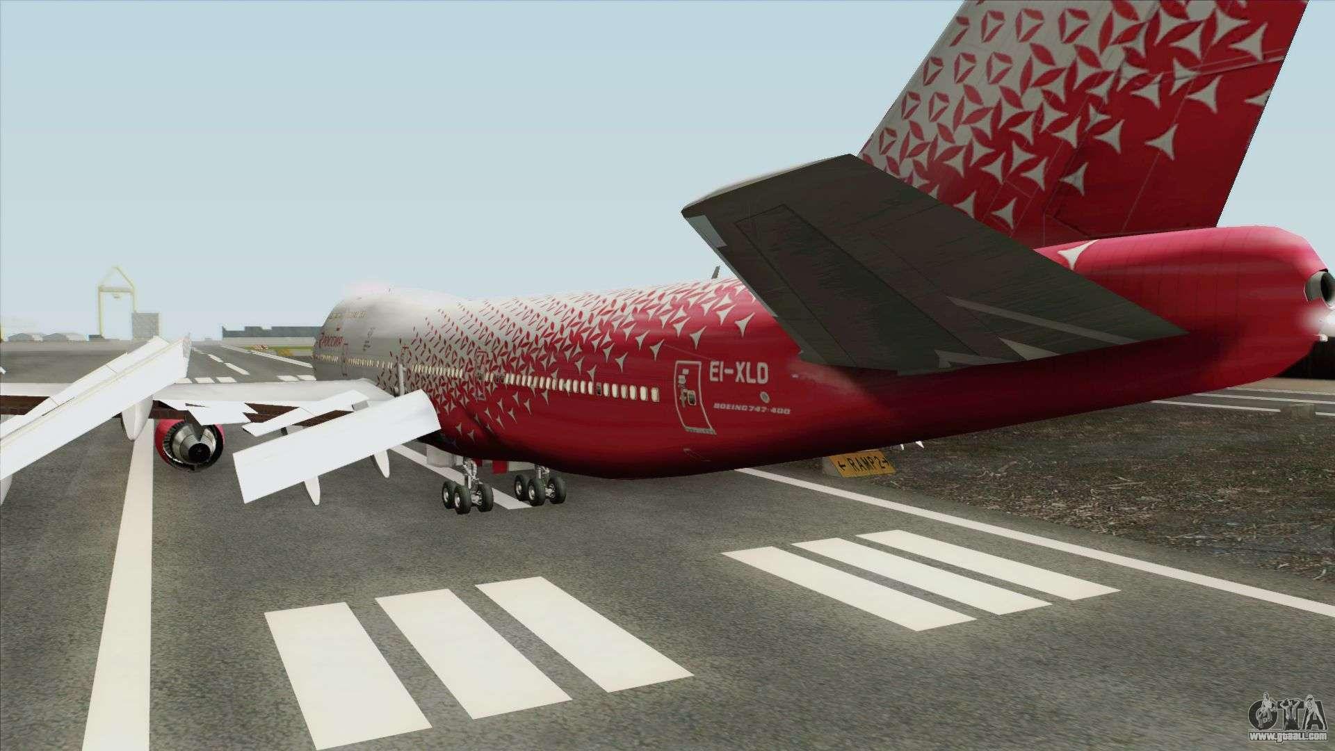 Boeing 747-400 (Rossiya Airlines) For GTA San Andreas
