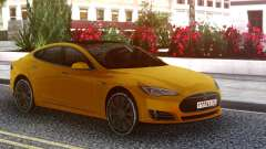 Tesla Model S yellow for GTA San Andreas