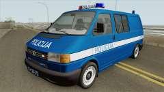 Volkswagen Transporter Mk4 Policija V2 1999 for GTA San Andreas