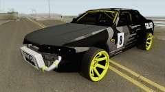 Nissan Skyline R33 Drift Falken Camo MQ for GTA San Andreas