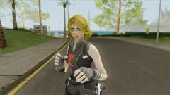 Black Widow Yellow Hair (Fortnite Marvel) for GTA San Andreas