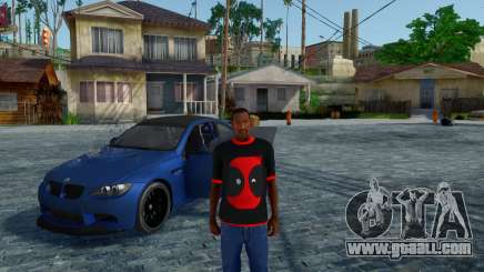 Deadpool Black T-Shirt V1.0 for GTA San Andreas
