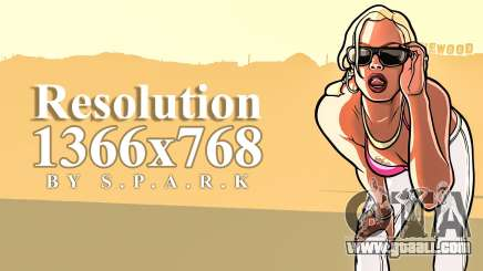 1366x768 Resolution Fix for GTA San Andreas