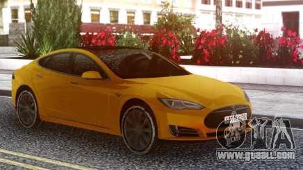 Tesla Model S yellow for GTA San Andreas