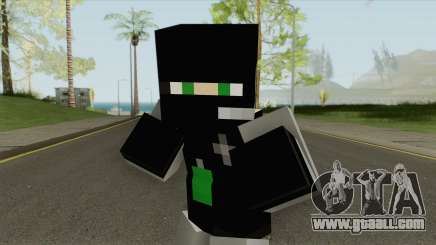 SWAT Minecraft Skin for GTA San Andreas