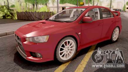 Mitsubishi Lancer Evo X Red for GTA San Andreas