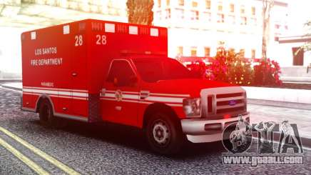 Ford F-250 Ambulance LSFD for GTA San Andreas
