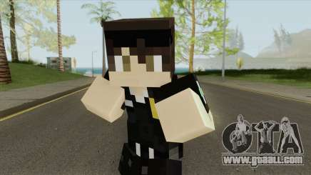 Police Minecraft Skin V2 for GTA San Andreas