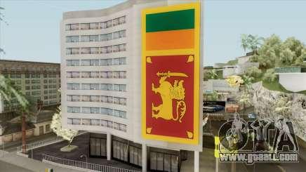 Srilanka Flag On Building for GTA San Andreas