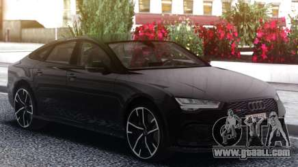 Audi RS7 Black for GTA San Andreas