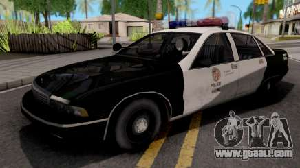Chevrolet Caprice 1991 San Fierro Police for GTA San Andreas